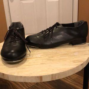 Capezio Lace Up Tap Shoes, Black